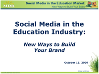 Social Media in the Education Industry