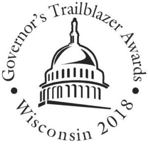 The 2018 Governor's Trailblazer Award for Wisconsin Women in Business.