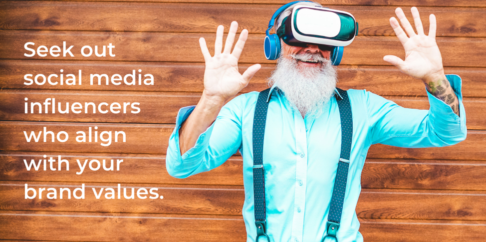 seek out social media influencers who align with your brand values. - Image via Pixabay / Canva