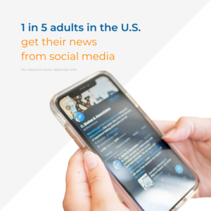 1 in 5 adults in the United States get their news from social media, a public relations trend that will continue in 2020.