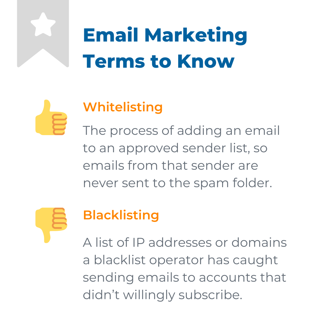 Email Marketing Tips: Email Whitelisting helps approved senders land in your inbox, instead of the Spam folder.